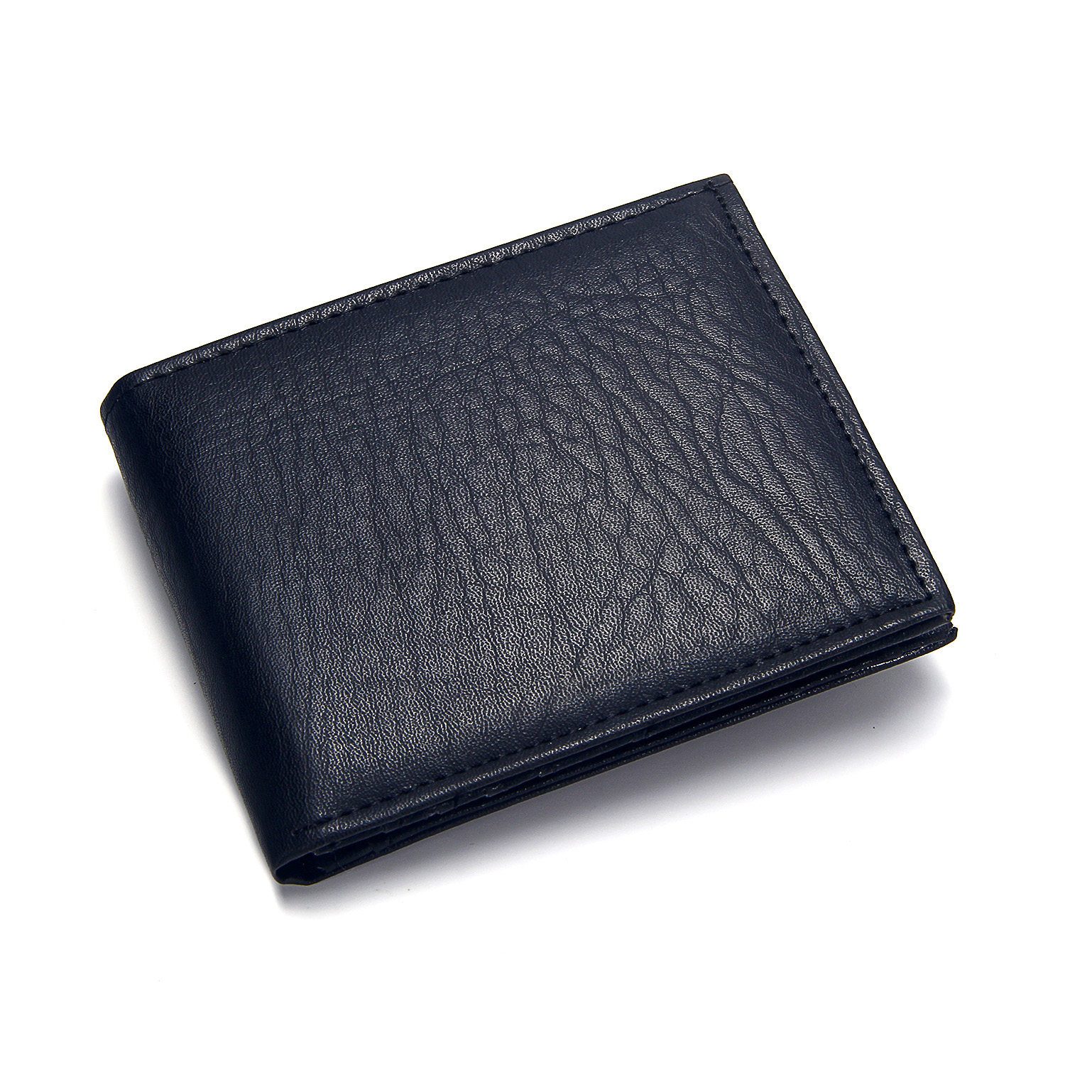 PU Leather Short Men's Wallet Black Credit Card Holder Coffee Causal Small Wallets For Male Snap Button Pocket Coin Purse