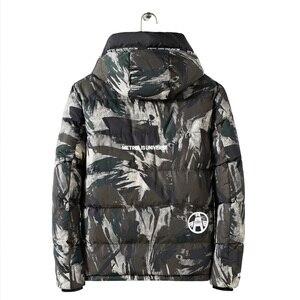 Image 5 - Streetwear kamuflaż kurtka zimowa mężczyźni z kapturem dorywczo mężczyzna płaszcz z kapturem Camo grube ciepłe męskie znosić