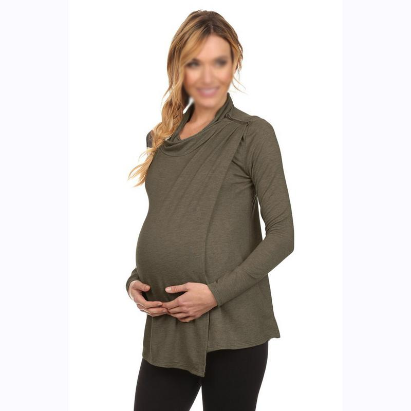 Pregnant Women Care European And American Long-sleeved Breastfeeding Maternity Dress Breastfeeding Sweater