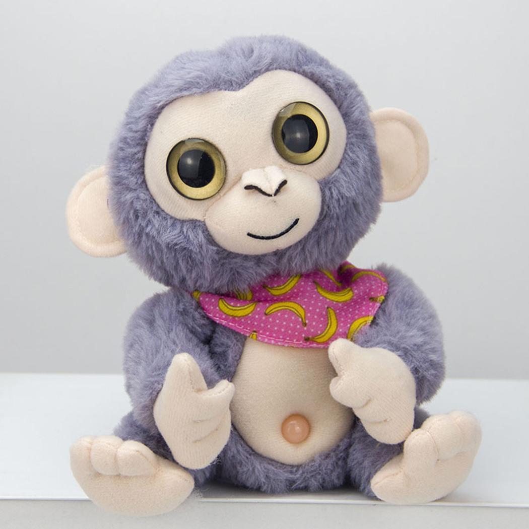 Cartoon Electronic Recording Toys Plush Talking Monkey Doll Interactive Toys Soft Birthday Gift Mimicry Pet Talking Cute Kawaii 2