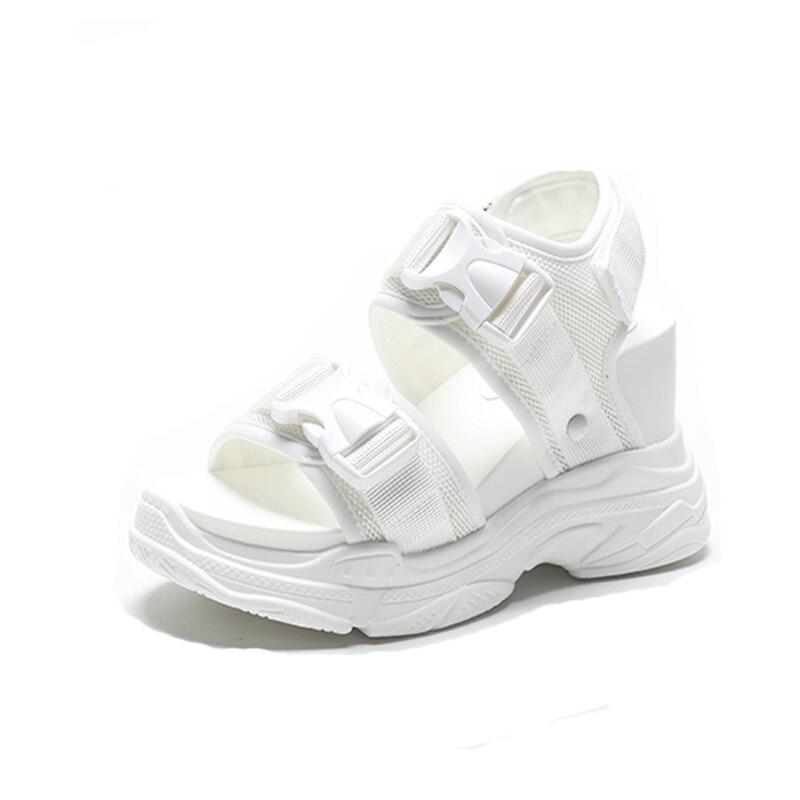 Caliente Black Blanco Hebilla Las 2019 Verano De Grande Plataforma Sandalias Zapatos Mujer Dama Con Zapato Venta Swyivy white Casuales Mujeres 1wqRq7
