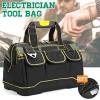 Besar Kapasitas Oxford Kain Peralatan Kantong Berat Alat Tas Case Portable Perbaikan Tas Peralatan Tahan Air Alat Kit 13/16/ 18/20