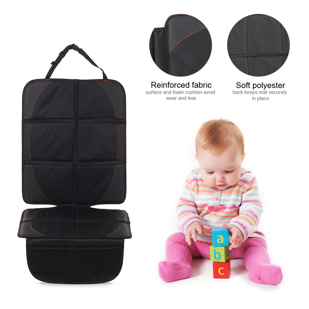 Car Seat Protector Seat Back Cover Pet Mat Full-Length Padded Waterproof Non-slip For Infant Baby Kids Safety Seat