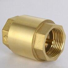 1 шт. встроенный анти Задний обратный клапан утолщенная латунная Соединительная муфта для масла топлива газа воды воздуха