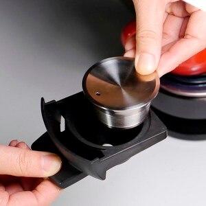 Image 5 - Capsula reusável do dripper da cápsula das cestas do filtro do gusto de dolce do aço inoxidável para o copo recarregável da vagem de dolce gusto do metal