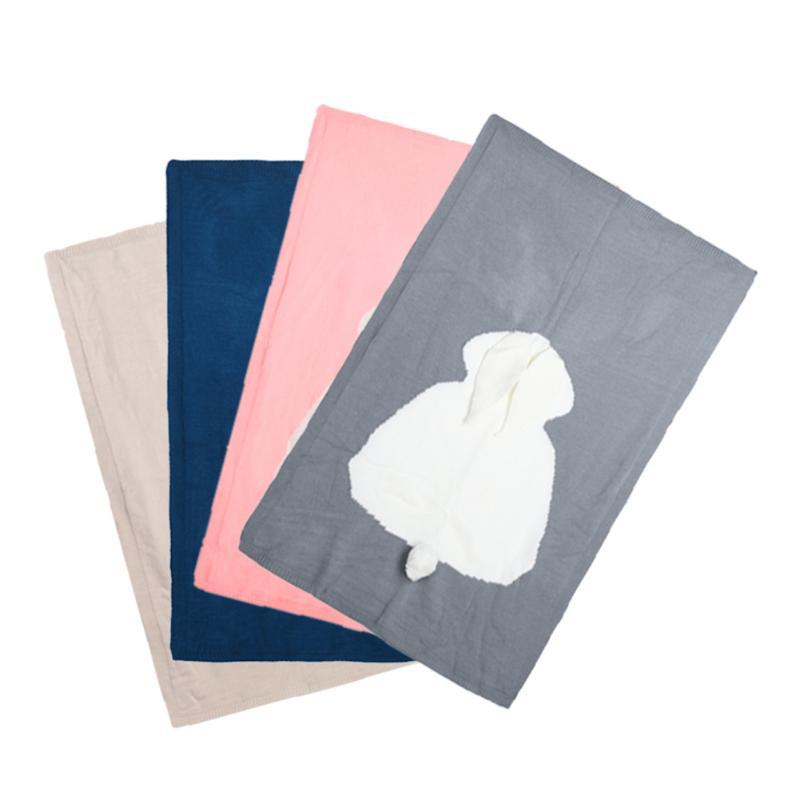 Begeistert 120*75 Cm Baby Niedlichen Kaninchen Gestrickte Decke Kinder Decke Handgemachten Woolen Blended Weiche Warme Swaddle Kinder Bad Handtuch Für Neugeborene Perfekte Verarbeitung