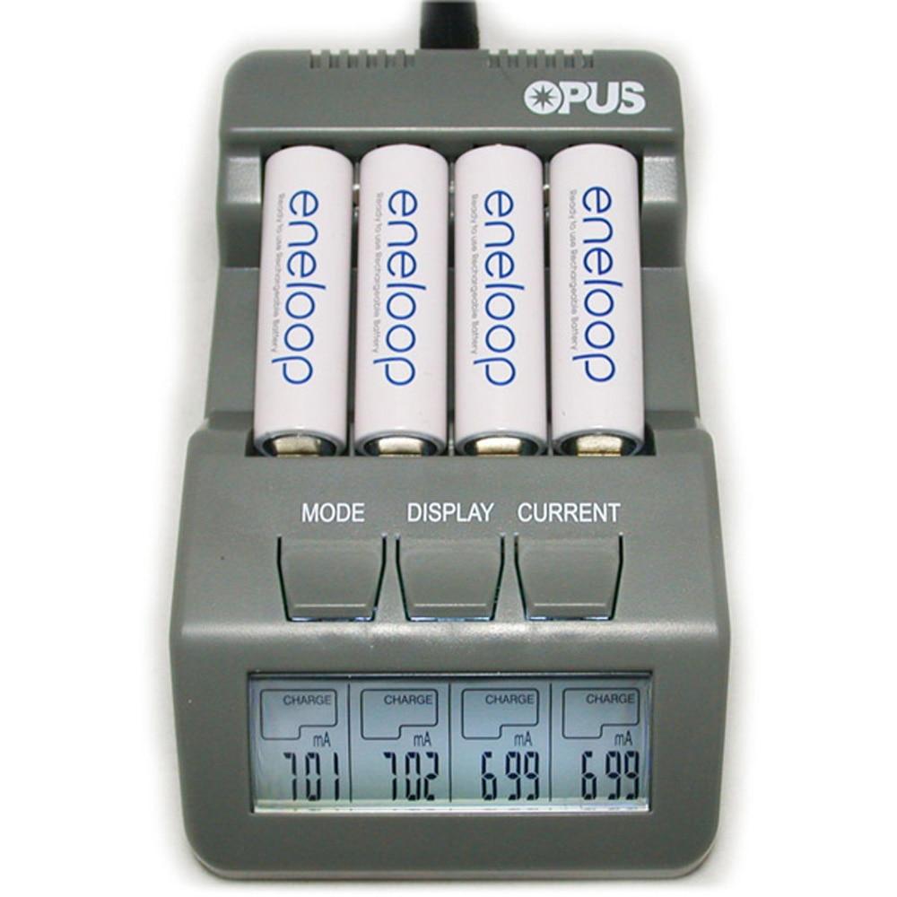 Opus BT-C700 NiCd NiMh LCD Digital Intelligent 4 Slots Battery Charger - EU Plug