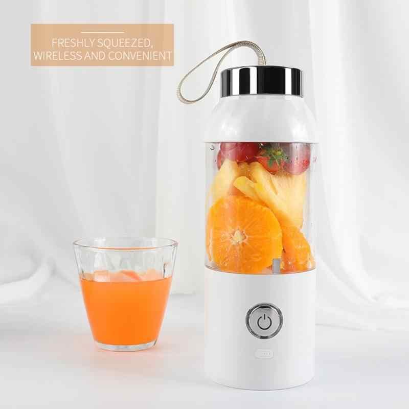500 ml Liquidificador Espremedor de Carregamento USB Portátil Misturador Máquina de Suco de Frutas Extrator De Suco Criador Nova Casa Pequena À Prova de Vazamento de Selo