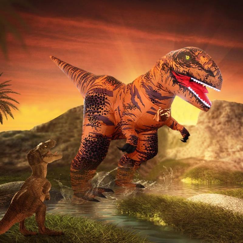 Trajes inflables t rex vestido de dinosaurio para adultos niños hombres mujeres Blowup Animal Cosplay ropa para fiesta DIY decoraciones-in Decoraciones DIY de fiestas from Hogar y Mascotas    2