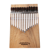 GECKO Kalimba 15 Keys Thumb Piano Camphorwood with Instruction and Tune Hammer Wonderful Sound Kalimba Musical Instrument