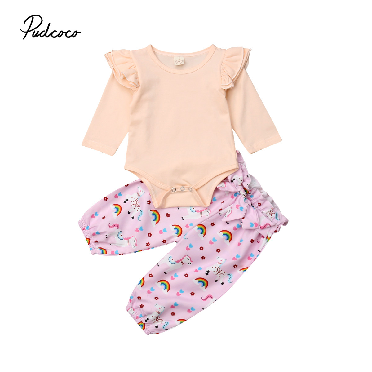 Cute Soft Cotton Baby Girl Clothing Set Romper Tops -7455