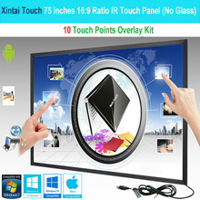 Xintai Touch panneau de cadre tactile IR/Kit de superposition décran tactile, Plug & Play (sans verre), 75 pouces, 10 Points tactiles 16:9