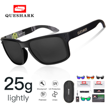 Queshark UV400 TR90 Polarized Cycling Glasses Bike Sunglasses Bicycle Goggles Fishing 29g Men Women Eyewear