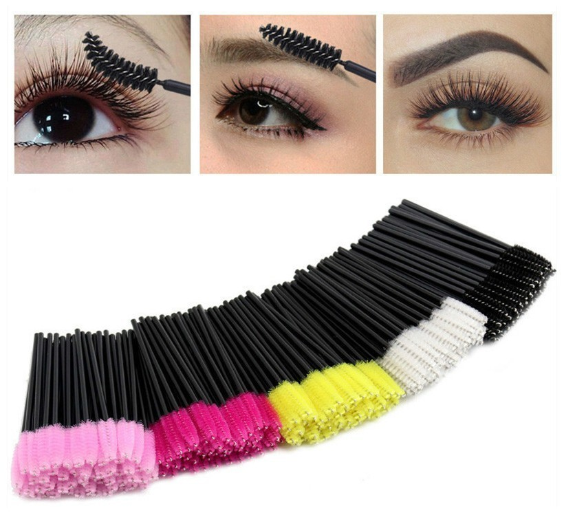50pcs Good Sale Third Generation Eyelash Brushes Makeup Brushes Disposable Mascara Wands Applicator Disposable MakeUp Lip Brush