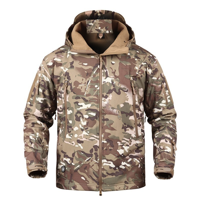 Image 2 - TAD Winter Thermal Fleece Army Camouflage Waterproof Jackets Men  Tactical Military Warm Windproof Jackets Multicolor 5XL CoatJackets