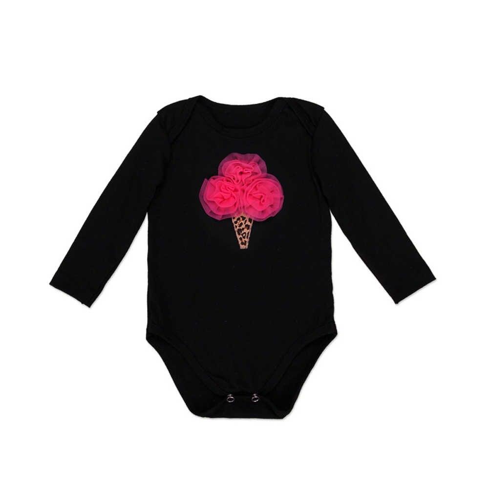 Весенне-осенний Детский комбинезон высокого качества для маленьких мальчиков и девочек, хлопковая одежда с длинными рукавами и надписью «love pure black haber»