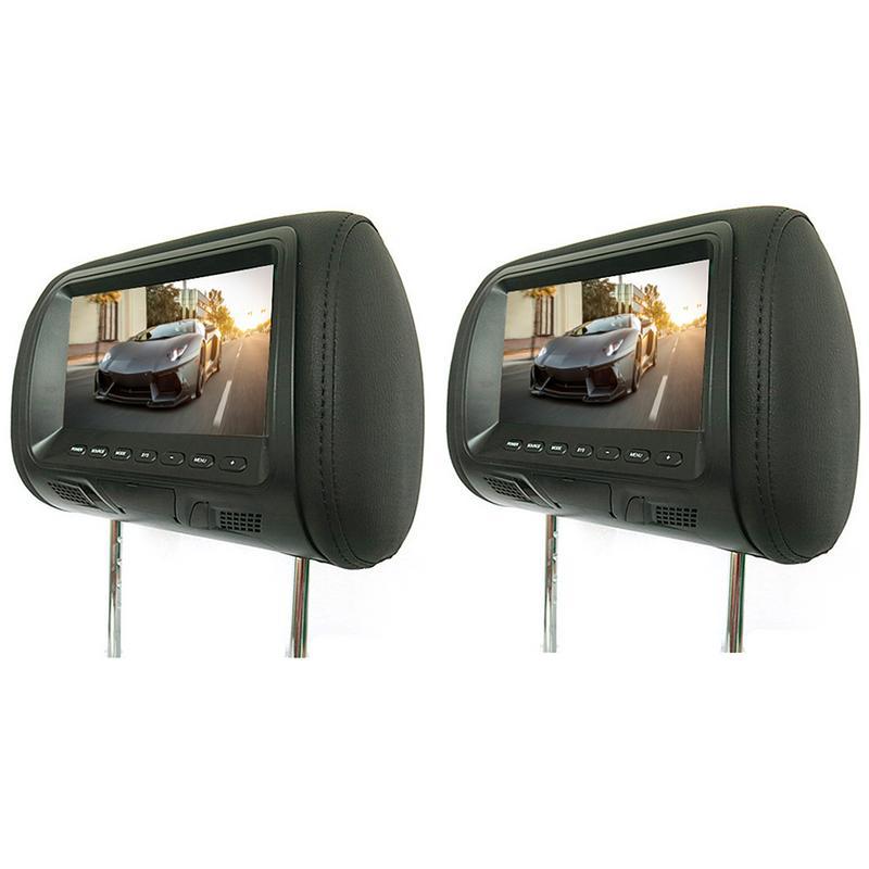 2pcs 7 Inch Rear-Mounted Car Headrest Universal Hd Digital Screen Image Lcd Display Pair Headrest TV Display Hot