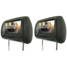 2 قطعة 7 بوصة الخلفية سيارة مسند الرأس العالمي Hd شاشة رقمية صورة شاشة الكريستال السائل زوج مسند الرأس التلفزيون عرض الساخن