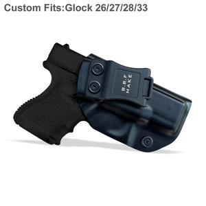 Image 4 - IWB/OWB ยุทธวิธี KYDEX ปืน HOLSTER Glock 19 Glock 17 25 26 27 28 31 32 33 43 ภายในปกปิดพกพาปืนพกอุปกรณ์เสริมกระเป๋า