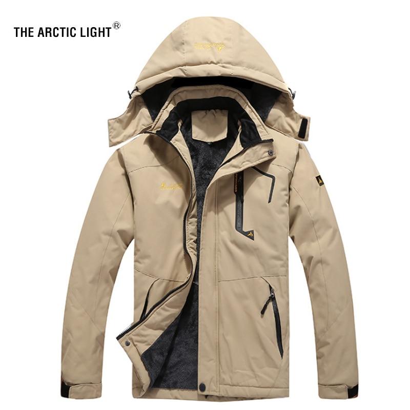 La veste de Ski lumière arctique hommes imperméable polaire neige manteau thermique pour extérieur Ski de montagne Snowboard veste grande taille