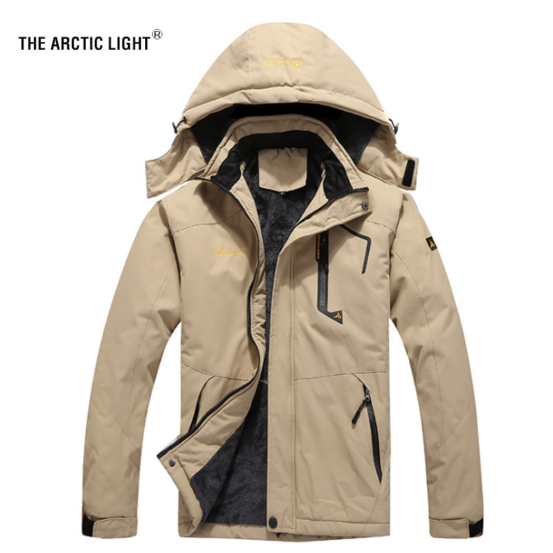 THE ARCTIC LIGHT Ski Jacket Men Waterproof Fleece Snow Thermal Coat For Outdoor Mountain Skiing Snowboard Jacket Plus Size