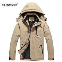 THE ARCTIC LIGHT Ski Jacket Men Waterproof Fleece Snow Thermal Coat For Outdoor Mountain Skiing Snowboard Jacket Plus Size