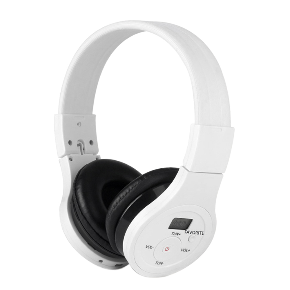 HRD-391 Wireless Bluetooth Headset Portable BT Music Earphone Wired Headphones FM Radio AUX IN with LCD Display For Mobile Phone
