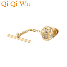 New Golden Round Locking Tie Tack for Mens Elegant Knot Men Pins Guard Backs Clutch Clothing Wedding Gifs Guets