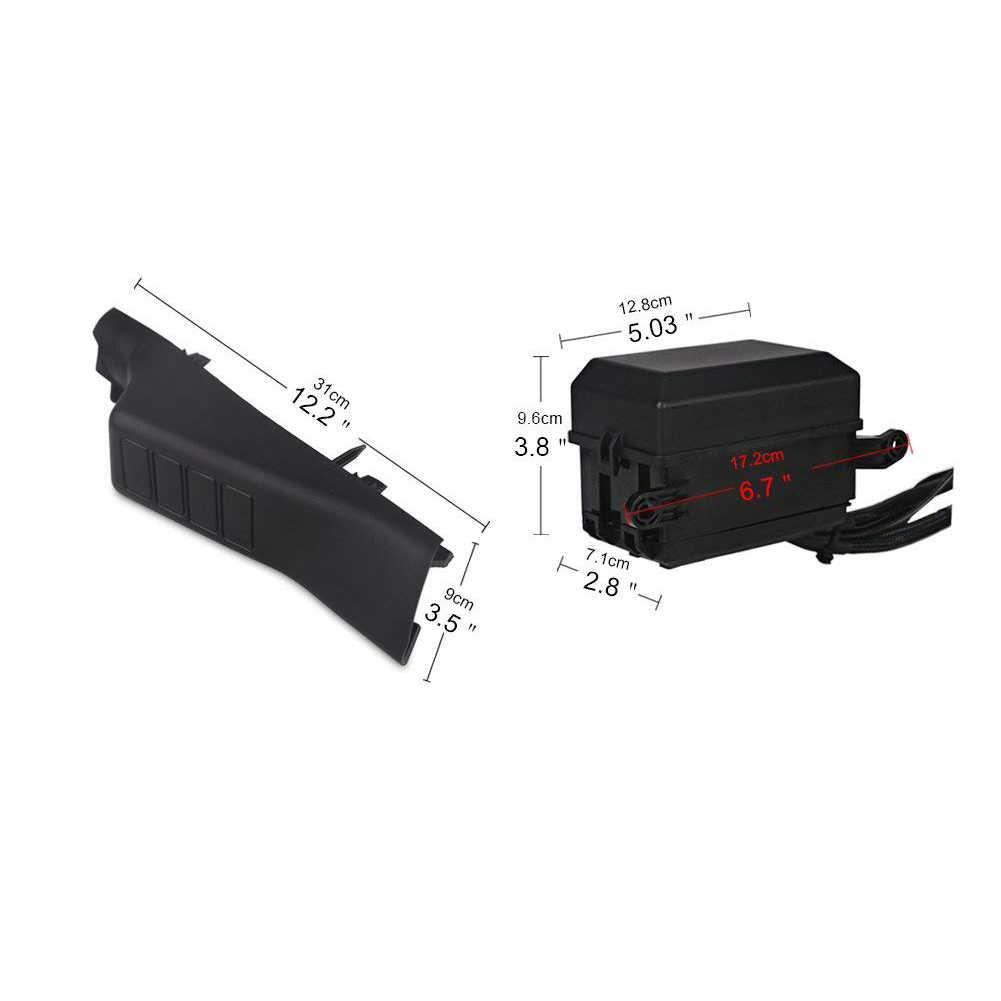 small resolution of  a pillar switch pod and fuse relay box source control system for jeep wrangle jk jku