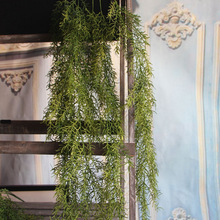 3-fork pearl and aquatic weed wall-hanging simulation rattan plastic soft-hanging