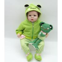 Eyes Unisex Soft Doll Green Gift Kids Silicone Baby Opened 2 Realistic Collectibles Playmate 4Years Clothes With Reborn
