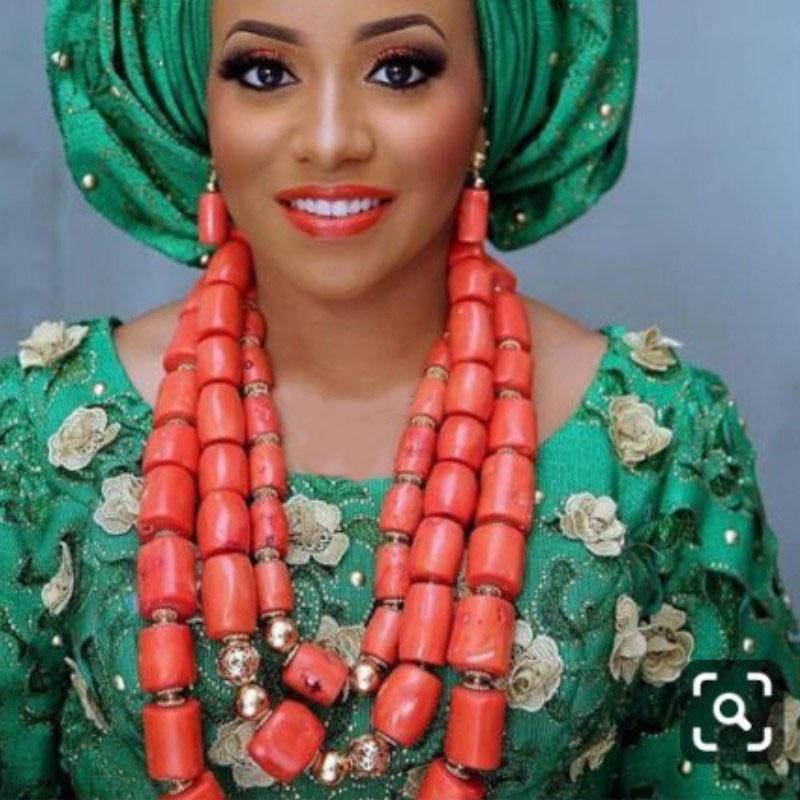 Dudo bijoux Godki luxe femmes bijoux ensemble grandes perles de corail bijoux ensemble 3 couches africain indien bijoux boucles d'oreilles collier ensemble