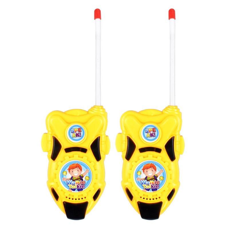 2pcs Children Portable Toys Walkie Talkies Interactive Mini Handheld Toy Children ABS Intercom Toys Pretend Play Toys For Kids