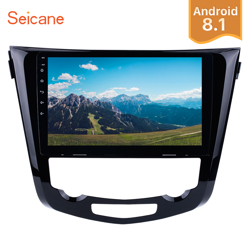 "Seicane 10.1"" Android 8.1 2Din Car Radio GPS Navigation Stereo Audio WiFi Multimedia Player For 2014 Nissan QashQai X-Trail"