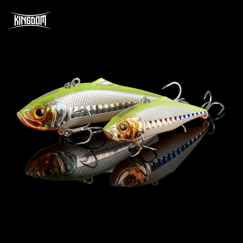 Kingdom 2019 New VIB Sinking Fishing Lures 60mm 75mm Good Action Hard Baits High Quality Swim baits Wobblers Fishing lure