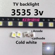 100 pces/uni 3537 3535 1 w led chip-2 90lm 3 v branco fresco retroiluminado lcd led de alta potência para aplicações de tv