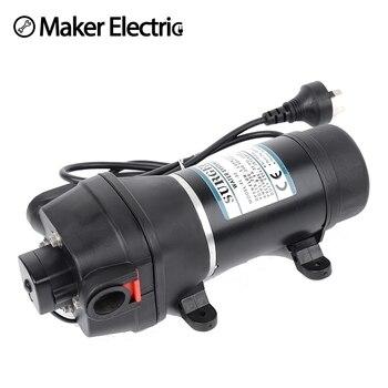 цена на FL-30 FL-31 12V/24V DC water pump motor self suction Mini diaphragm pump 10m lift Submersible pumps
