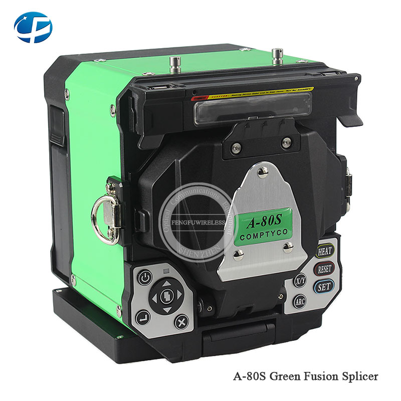 Free Shipping A-80S Green/Orange Automatic Fusion Splicer Machine Fiber Optic Fusion Splicer Fiber Optic Splicing Machine