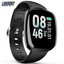 Lokmat умные часы для занятий спортом Для мужчин Ip67 жизнь водонепроницаемый шагомер с поддержкой bluetooth монитор сердечного ритма информационное напоминание Smartwatch для Ios