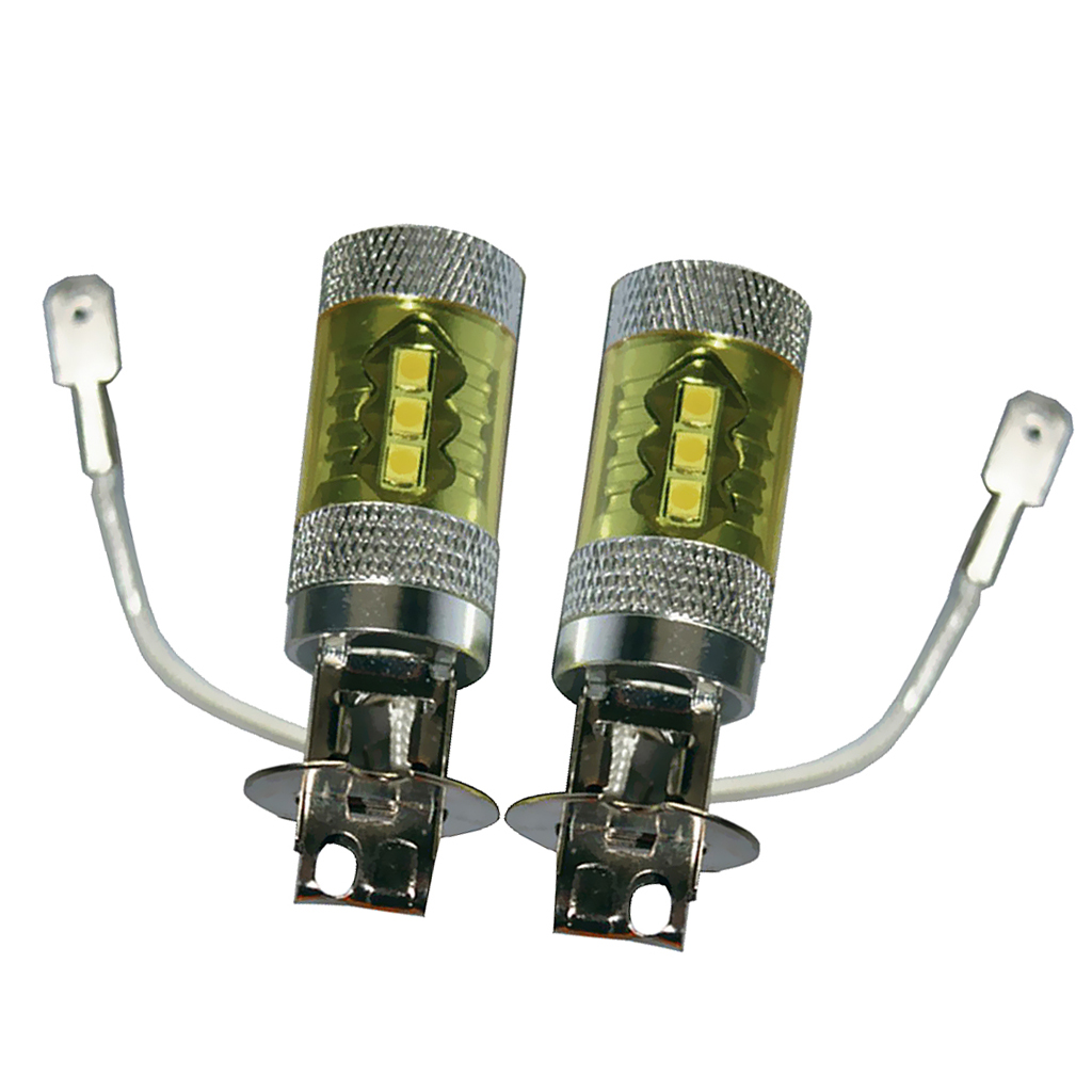 2 PIECES 80W YELLOW HIGH POWER LED FOG DRIVING LIGHT 6000K DC 12V High Power LED Bulbs in Car Light Assembly from Automobiles Motorcycles