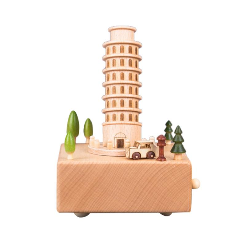 City Of The Sky Songs Wooden Music Box Wood Crafts Retro Birthday Gift Vintage Home Decoration Accessories