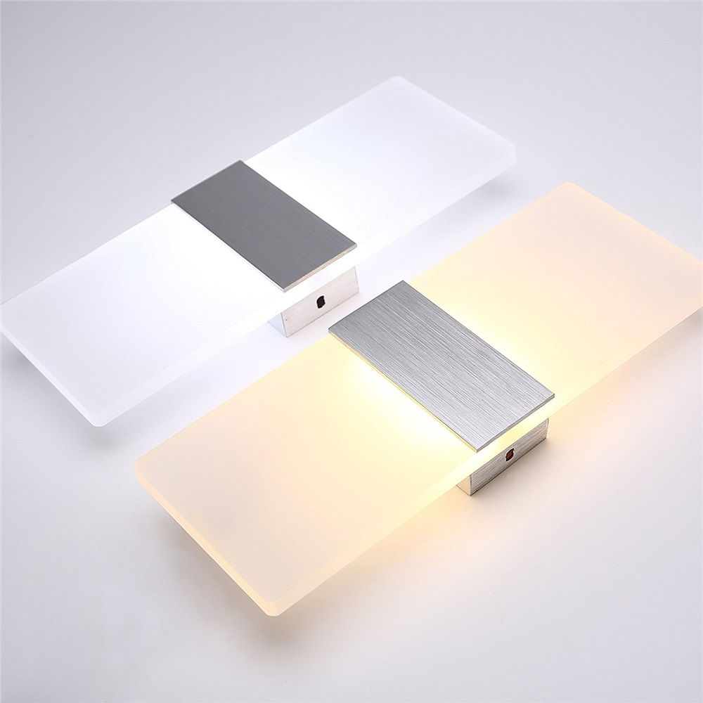 Modern led wall light 6W 12W Frosted acrylic wall sconce lamp Surface mounted Home decor wall lamp