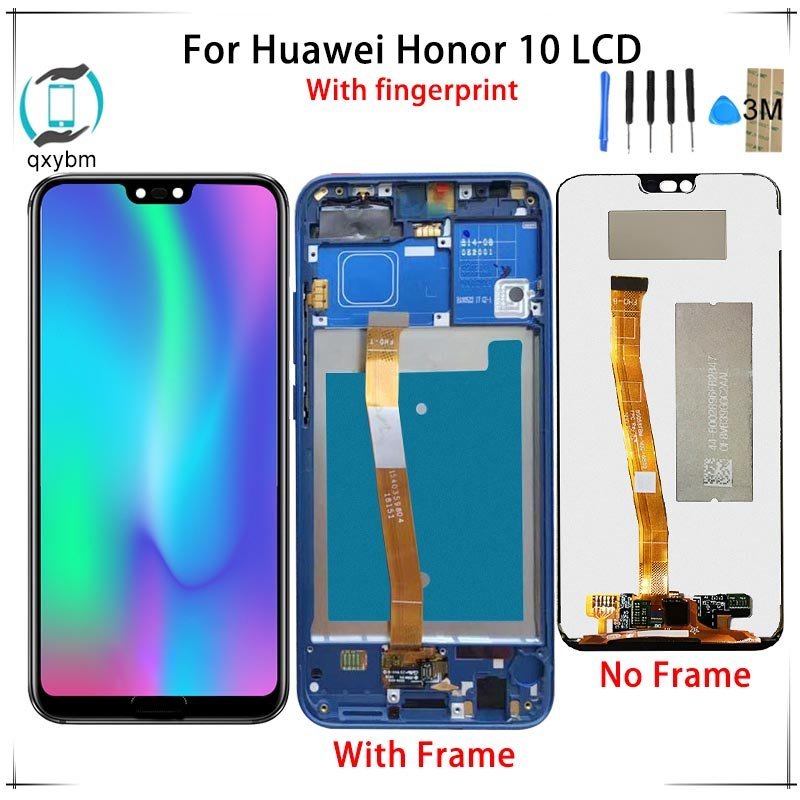 5.84 For Huawei For Honor 10 LCD Display Touch Screen with Fingerprint Digitizer Assembly Factory Price With Free Tools As Gift5.84 For Huawei For Honor 10 LCD Display Touch Screen with Fingerprint Digitizer Assembly Factory Price With Free Tools As Gift