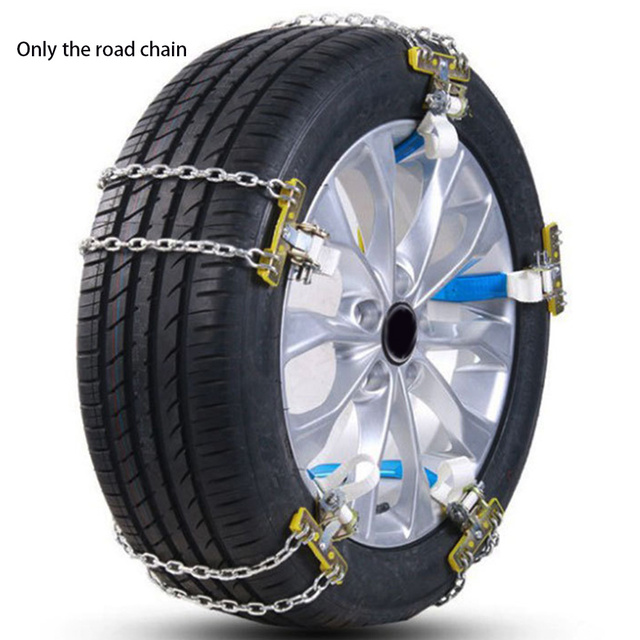 Snow Chains Universal Car Suit 165-195mm Winter Tire Safety Track Chains on Snow Tires Climbing Mud Floor Anti Slip
