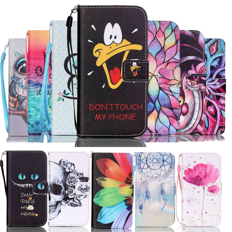 Patterned PU Leather Wallet Phone Case Cover sfor Samsung S7 Edge S8 Plus Flip Cards Holder Stand Capa Coque sFor Samsung S7 S8 image