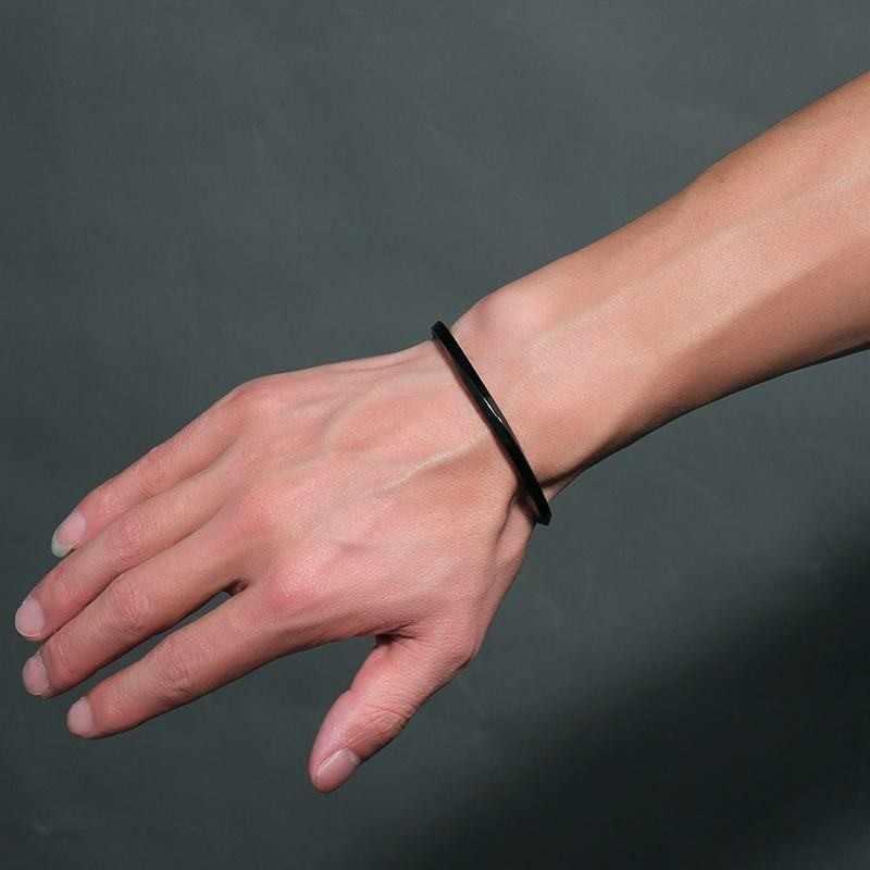 Solidna bransoletka ze stali nierdzewnej czarna platerowana Twist bransoletka dynda Pulseira Masculina biżuteria 4mm szerokość