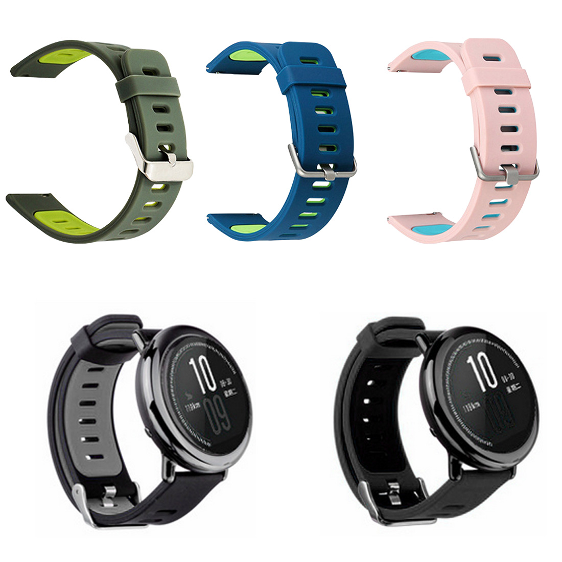 22MM Silicone Strap Two-color Print Replacement Wristband  For Wami Smart Watches And Other Unisex Style