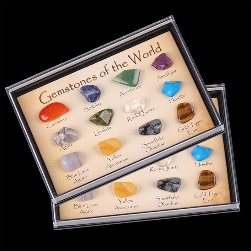 Crystal Gemstone Polished Healing Natural Crystal Gemstone Color Stone Gift Stone Natural Stone Set Collection And Decoration 40