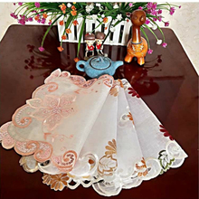 30*45cm European Style Lace Hollowing Out Pure Manual Nail Bead Simplicity Modern Tea Tray Telephone Set Top Box Decorate Cloth
