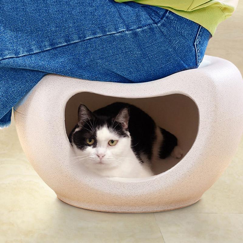 Pet House fermé quatre saisons PE plastique chat maison automne hiver chaud Net rouge chat maison chaise Panier Pour chaise